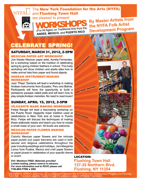 NYFA Workshops